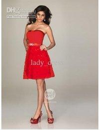 Wholesale Fashion Mini A Line Style Strapless Sleeveless Rhinestone Baldric Lace Homecoming Dresses