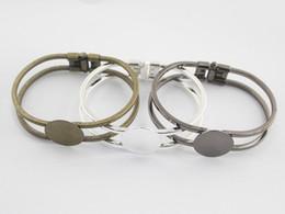 Wholesale 5pcs Brass Antique Bronze MM Flat Round Bangle Bracelet Blank Base Tray Bezel Cabochon Setting