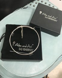Wholesale mm diameter silver plated alex and ani New design the wings of an angel Charm bracelet with box Drawstring bag