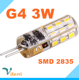 Wholesale Led Corn Globe - SMD2835 3W LED corn bulb G4 24leds AC DC12V G4 corn light bulb 360 angle Crystal lamp Warm white cool white