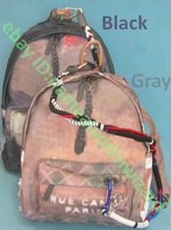 Wholesale new Travel Bags graffiti canvas shoulder bag catwalk canvas bag backpack bag knapsack Outdoor leisure sports package Gray