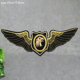 7.8CM*25CM New Harley Eagle Badge Embroidered Appliques DIY Cloth Accessories Hats Bags Hot Paste Patch