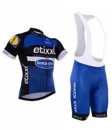Free shipping 2016 Etixx Quick step Cycling Jerseys short Jersey Bicycle Breathable cycling clothes Bicycle Clothing Lycra GEL pad