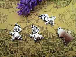 Wholesale 27pcs fashion simple antique silver tone monkey charms pendants