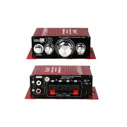 Wholesale 2 CH Car Power Amplifier Hi Fi Subwoofer Audio Stereo Mini Power Digital Amplifier For Home Auto Car Boat HiFi Sound MA