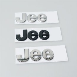 Wholesale Individual Jee Metal Car Decals for Jeep Quality Guranteed Black Silver ABS Car Stickers Size cm