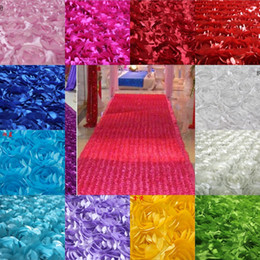 Wholesale New D Flower Fabric Wedding Table Carpet Backdrop Cloth Multicolor Stereo Rose Fabric for Baby Photography Props Rosette Fabric Yard
