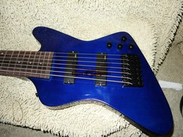 New Arrival Custom Shop 7 string Electric Guitar blue thu Bass Free Shipping
