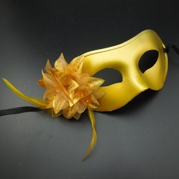 New party masks venetian masquerade mask flower aside half face halloween mask Christmas gift Mardi Gras party prop gold silver black white