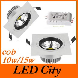 Newest 10W 15W Dimmable Led Recessed Lights COB Led Chip Indoor Led Downlights Warm Pure Cool White 120 Beam Angle CE&ROHS CSA