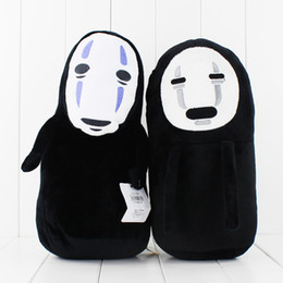 Anime Cartoon Miyazaki Hayao Spirited Away No Face Plush Soft Stuffed Doll Toy for kids gift toy free shipping retail