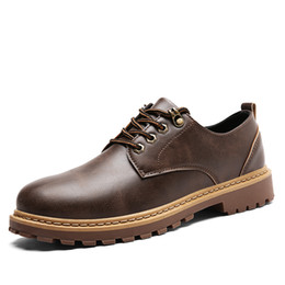 2017 New Fashion Casual Shoes Men Artificial Leather Lace-up Hard-wearing Rubber Sole Pu Insole Comfortable Shoes Men Work Safety Shoes 8