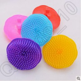 Wholesale 500pcs CCA4242 High Quality Candy Color Shampoo Washing Hair Massage Brush Combs Massager Comb Scalp Shower Body Hair Care Massager Brush
