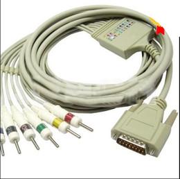 Wholesale 10 Lead ECG EKG Cable For Schiller AHA Banana Original S N AT ECG EKG Cable For Schiller
