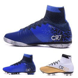 Wholesale New Boots CR7 Mercurial Superfly AG FG IC TF Soccer Boots Ronaldo Men Shoes Soccer Cleats Cheap Sale