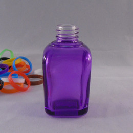 New product DHgate wholesale glass square bottle purple Ecig bottle 30ml glass bottle with dropper pure glasschildren cap childproofcap bott