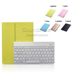 Wholesale Bluetooth Broadcom Slimmest Synthethic Leather Case With Pc Removable Keyboard Color Backlight For Ipad Air F16s With Retail Box