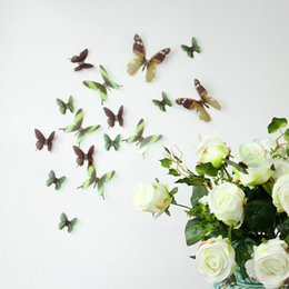 Transparent butterfly wall stickers transparent PVC decorative 3D color models in Europe and America Butterfly Wall Stickers new 2016