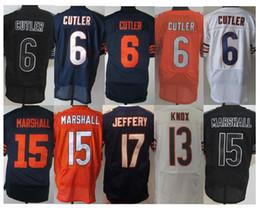 Wholesale BEARS CUTLER JEFFERY white MARSHALL Orange KNOX blue Men ELITE Football Jerseys Accept Mix Order