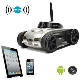 2016 Hot Sale Mini RC Tank Car Video 0.3MP Camera 777-270 WiFi Remote Control By Phone Android White EMS Photo RC Car 4CH APP