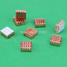 40PCS / Lot de cobre nuevo Xbox 360 VGA tarjeta DDR Ram memoria disipador de calor de refrigeración disipador de oro RHS-03 13 x 12 x 5 mm desde memoria xbox fabricantes