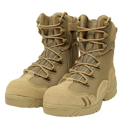 Wholesale New America Sport Army Men s Tactical Boots Desert Outdoor Hiking leather Boots Military Enthusiasts Marine Male Combat Shoe Men