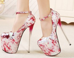 Spring New super high with 19 cm with paint single shoes sexy club for women's shoes