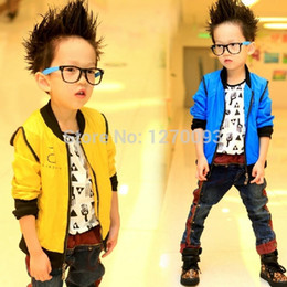 New 2016 Spring Kids Jackets For Boys Solid Color Zipper Cardigan Jackets Male Casual Children Outerwear Boy Coats Baby Clothing