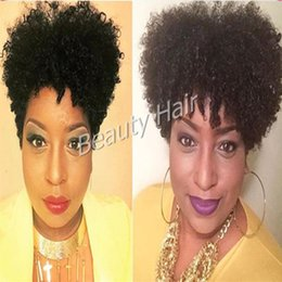 Wholesale short curly human full lace wig lace front wig human hair wigs for african americans