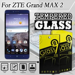 Tempered Glass Screen Protector For ZTE KIRK Z988 GRAND X MAX 2 Zmax Pro Max Duo 4G Imperial max z963u Mobile Phone Accessories with packing