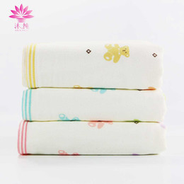 muchun Brand Bear Baby Towel 100% Nature Cotton Soft Towel Absorbent Washrag Washcloth Textiles Shower Cleaning Towel