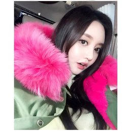 2017 manteau d'hiver col de fourrure véritable .winter Women's Faux Fur Lining Parka Jacket Femme Green Army Real Raccoon Fur Collar Hooded Warm Parkas multicolore manteau Tops manteau d'hiver col de fourrure véritable offres