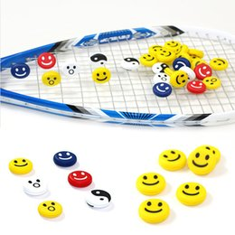 Choix de sports en Ligne-50pcs / lot accessoires Tennis Squash Racket Vibrateur Tennis Silicone Six couleurs pour votre choix accessoire Sport E590L