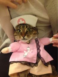 Головные уборы для собак для продажи-Pet косплей Пинки медсестра костюм пальто и шляпу собаки костюм Одежда Смешные Кошки костюмы для щенков высокого качества
