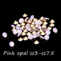 Retail Mini Point Back Crystal Rhinestones Glass Stones ss3-ss7.5 Pink Opal Color 1440pcs Loose Strass Bead DIY Nail Art Decoration