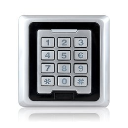 Wholesale Access Controller Password Keypad Metal Case KHz RFID Reader For Door Security Silver F1232D