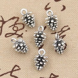 Wholesale Charms pine cone mm Antique Zinc alloy pendant fit Vintage Tibetan Silver DIY for bracelet necklace