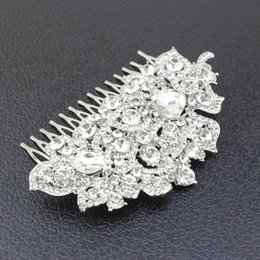 Wholesale 2016 Charming Crystal Bridal Tiaras Vintage Style Clear Crystal Hair Comb Bridal Wedding Hair Accessories Absolutely Radiant HY1587