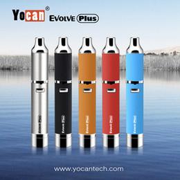 Authentic Yocan Evolve Plus Kit 1100mAh Battery Quartz Dual Coil QDC E Cigarette Kits All 5 Colors In stock