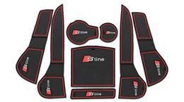 Wholesale Car Door Groove Gate Slot Cup Armrest Storage Pad Anti Slip Mats Suitable For Audi A4L Retail Set