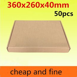 360x260x40mm 50pcs High quality wholesale kraft paper box  Thicken three floor corrugated kraft paper packaging coat etc caisse