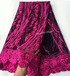 High quality 5 yards African tulle lace net African french lace fabric with beads stones high quality free shipping by DHL