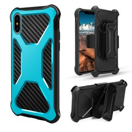 For Sumsung s8 plus Armor Dual Layer defender Case Shockproof belt clip Cover For iPhone X 8 7 6 6S Plus phone cases