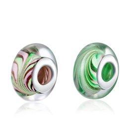 925 sterling silver glass beads DIY fashion jewelry accessories for Pandora bracelets Top Quality Free Shipping P086