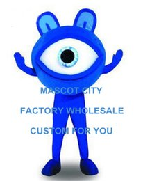 Wholesale Blue Eye Mascot Costume Glasses Sight Protection Advertising Mascotte Outfit Suit Party Fancy Dress FREE Ship SW516