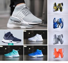 Wholesale Brand Shoes King high quality air presto ultra boost flykint breather mens womens running shoes medium top sneakers size