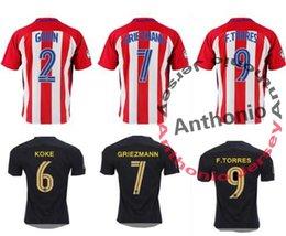Wholesale ATLETICO MADRID KOKE GRIEZMANN TORRES CAMISETAS FUTBOL thai quality soccer jersey thailand football jerseys soccer jerseys uniforms