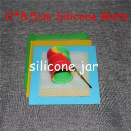 Wholesale Silicone Mats Wax Non Stick Pads Silicon Dry Herb Mats cm Food Grade Baking Mat Dabber Sheets Jars Dab Pad Green Blue Yellow