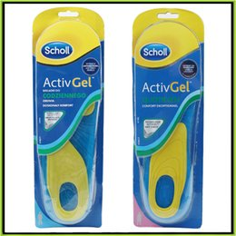 Wholesale Scholl Gel Activ Work Insoles for Men Women Soft silicone damping insole Foot Care Also Have Scholl Velvet Smooth Foot Care