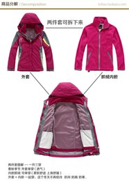 Factory wholesale female models outdoor clothing Jackets three-piece ski suit with reflective mountaineering outdoor sports and leisure warm